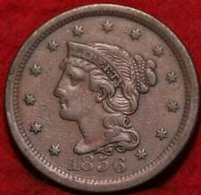 1856 Philadelphia Mint Copper Braided Hair Large Cent
