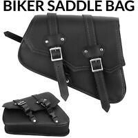 MOTORCYCLE TOOL BAG MOTORBIKE GENUINE 100% LEATHER SADDLE BAG LUGGAGE BLACK