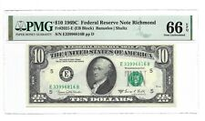 1969C $10 RICHMOND FRN, PMG GEM UNCIRCULATED 66 EPQ BANKNOTE, 1st of 2
