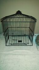 PARTIAL Vintage Wire Bird Cage With Latch Door Antique TOP PART ONLY Salvaged