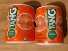 Lot of 2 Tang Orange Powdered Drink Mix, Vitamin C, 20 ounces, Makes 6 Quarts