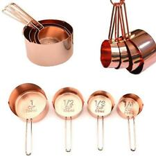 Copper Stainless Steel Measuring Cups and Spoons Set of 8 NEW