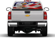 American Flag Eagle Rear Window Graphic Vehicle Tint Truck Decals Stickers