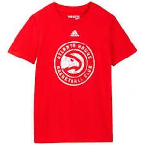 NWT Adidas NBA Atlanta Hawks Youth Boys 8-20 Primary Logo Tee 100% AUTHENTIC