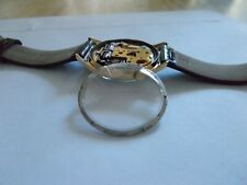Thru Case Back w/Retaining Ring Bulova Accutron 218 Clear Crystal See