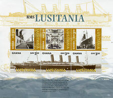 Ghana 2015 Mnh Rms Lusitania Wwi 6v m/s Barcos Buques Primera Guerra Mundial Uno