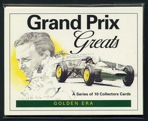 GRAND PRIX GREATS - Collectors Card Set - Senna Fangio Moss Clark Hill Formula 1