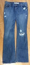 HOLLISTER Destroyed Distressed Denim Straight Leg Boot Cut JEANS HOLES RIPS 3R