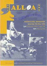 Boroughmuir v Dundee 1994 Scottish Alloa Cup Final Rugby Programme