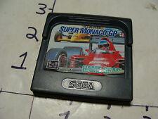 sega game gear game SUPER MONACO GP untested