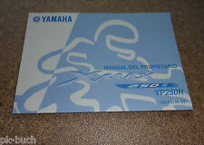 Manual Del Propietario Yamaha Roller YP 250 R  X - Max Stand 11/2007