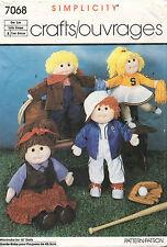 "1980's VTG Simplicity Wardrobe for Dolls Pattern 7068 Size 18"" tall"