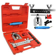 Metric Double Flaring Brake Line Tool Kit W/ Mini Pipe Cutter Car Truck Quality