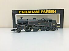 GRAHAM FARISH 372-529  N GAUGE 4MT TANK No 80130 BR BLACK LINED LATE CREST BOXED