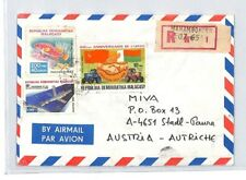 CA44 1986 Madagascar Airmail Cover MISSIONARY VEHICLES PTS