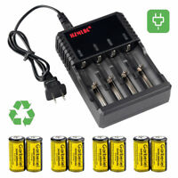 Garberiel CR123A 123A 16340 1800mAh 3.7V Li-Ion Rechargeable Battery +US Charger