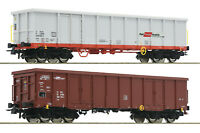 """Roco H0 76076 Güterwagen-Set mit Holzbündeln der ÖBB """"Neuheit 2019"""" - NEU + OVP"""