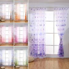 Heart Pattern Sheer Voile & Net Window Curtains/Drape/Panel/Scarf Curtain Panel