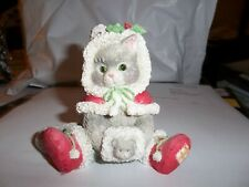 """Calico Kitten Figurine """"Wrapped In The Warmth Of Friendship"""""""