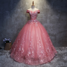 Quinceanera Dress Long Evening Ball Formal Prom Pageant Wedding Gowns Custom