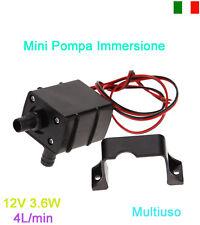 Mini Pompa Acqua Silenziosa Immersione Aquario Vino Olio Impermeabile 12V 3.6W