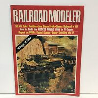 Railroad Modeler Magazine Back Issue April 1972 Roscoe Mining Railway Guns Steam