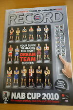 2010 AFL NAB CUP PRE-SEASON PREVIEW FOOTBALL RECORD