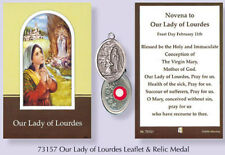 OUR LADY OF LOURDES RELIC MEDAL AND PRAYER CARD STATUES CANDLES PICTURES LISTED