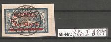 Memelgebiet Mi-Nr.: 38 a I  sauber auf Briefstück  geprüft Huylmans.BPP