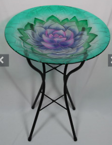 46x46cm Lotus Flower - Glass Bird Feeder