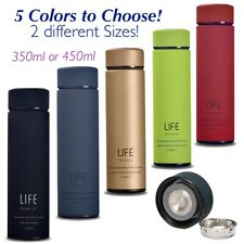 LIFE Stainless Steel Tea Filter Thermal Water Bottle Travel Vacuum Flask Cup