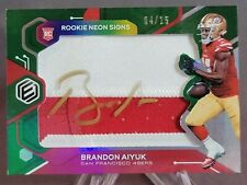 2020 Panini Elements Rookie Neon Signs Brandon Aiyuk 49ers 2 COLOR AUTO GOLD /15