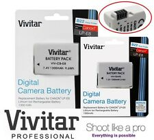 2 Pc Hi Capacity Vivitar LPE8 Li-Ion Battery for Canon EOS Rebel T5i T4i T3i T2i