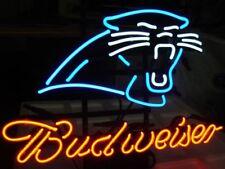 """New Budweiser Carolina Panthers Neon Light Sign 17""""x14"""""""