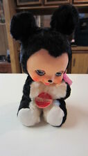 """Vintage Rubber Face Squeak """"Our Pet"""" Plush Teddy Bear w/ Tag, Made in Japan"""