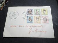 LUXEMBOURG, 1968, FDC 1° jour CARITAS, ENFANTS HANDICAPES', timbres 729/734