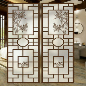 Chinese Vintage Window Film Frosted Door Glass Sticker Stained Home Decor PVC