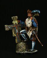 Tin soldier, Museum (TOP), Landsknecht with Holy Cross, XVI c 54 mm, Renaissance