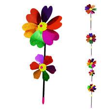 DIY Sequins Windspiele Windrad Windmühle Windräder Kinder Spielzeug Gartendeko