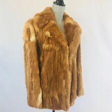 Vintage Geniune Fox Fur Coat Jacket Size Medium Winter Wedding Dress *Small Flaw
