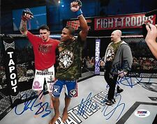 Lorenz Larkin Chris Camozzi Betiss Mansouri Signed UFC Fight 8x10 Photo PSA/DNA