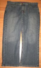 """Nautica Jeans Pants 14 - 34"""" x 28"""" Light Blue Cotton Denim Women Womans Fourteen"""
