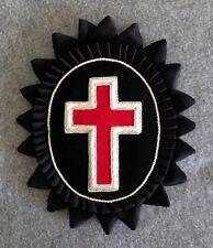 Templar Sir Knight Chapeau Cross with Rosette in Mylar