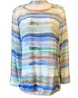 CARTOON Women's UK 10 Pastel Artistic Shirt Tunic Blouse Top Artsy Blogger