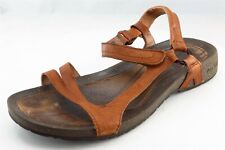 Teva Gladiator Brown Leather Women Shoes Size 9 Medium (B, M)