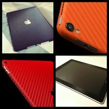 Textured Carbon Skin Cover Sticker Vinyl Wrap ALL Apple iPad Tablets Brand New