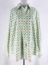 Orvis Women's White Green Button Down Long Sleeve Collared Shirt Size 18