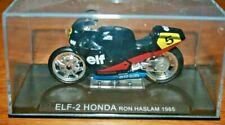 Ixo 1:24 Motorbike RON HASLAM ELF 2 HONDA 1985 - Rare