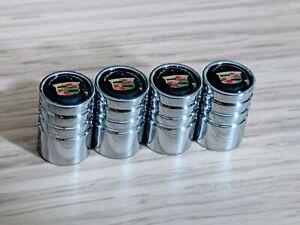 4× Chrome Car Wheel Tire Valve Air Stems Dust Cover Screws Cap Car Accessories