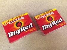 Big Red Chewing Gum Cinnamon Wrigley's Slim Pack TWO 15 sticks packs MAR2020